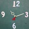 ชุดตัวเครื่องนาฬิกาญื่ปุนเดินเรียบ เข็มลายโมเดิน ขนาดกลาง เข็มสั้น-เข็มยาวสีครีม เข็มวินาทีรูปผีเสื้อสีแดง อุปกรณ์ DIY