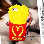 NEW MOSCHINO FRENCH FRIES SOFT SILICONE CASE COVER FOR IPHONE 5 & 5S