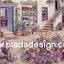 กระดาษสาพิมพ์ลาย สำหรับทำงาน เดคูพาจ Decoupage แนวภาำพ บ้านและสวน ห้องเพาะดอกไม้นานาพันธุ์สีสวยสดใส เป็นห้องใต้ดิน (ปลาดาวดีไซน์) thumbnail 1